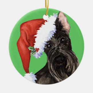 Happy Howliday Scottish Terrier Ceramic Ornament
