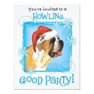Happy Howliday St. Bernard 11 Cm X 14 Cm Invitation Card