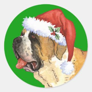 Happy Howliday St. Bernard Round Sticker