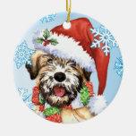 Happy Howliday Wheaten Christmas Ornaments