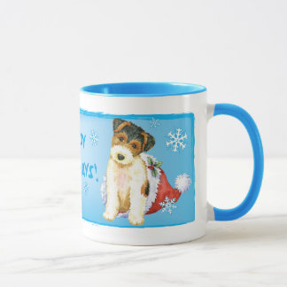 Happy Howliday Wire Fox Terrier Mug