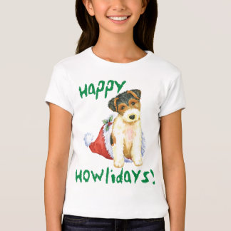 Happy Howliday Wire Fox Terrier T-Shirt