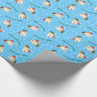 Happy Howliday Wire Fox Terrier Wrapping Paper