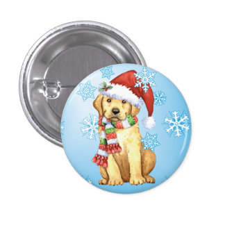Happy Howliday Yellow Lab Buttons
