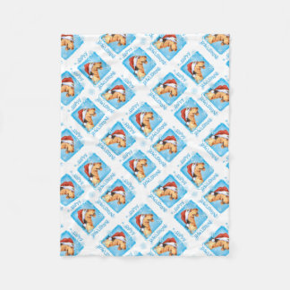Happy Howlidays Airedale Fleece Blanket