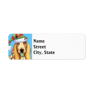 Happy Howlidays Basset Return Address Label
