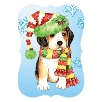 Happy Howlidays Beagle Card