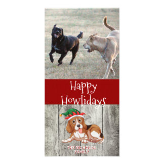 Happy Howlidays Beagle | Dog Holiday Photo Card