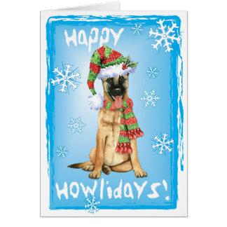 Happy Howlidays Belgian Malinois Card