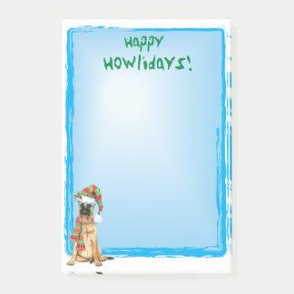 Happy Howlidays Belgian Malinois Post-it Notes