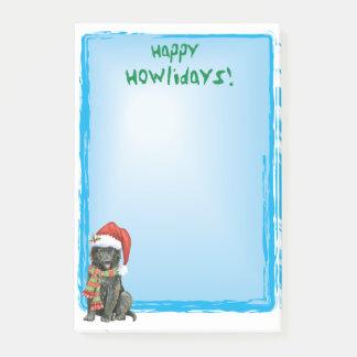 Happy Howlidays Belgian Sheepdog Post-it Notes