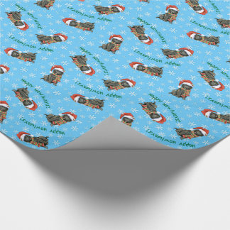Happy Howlidays Belgian Sheepdog Wrapping Paper