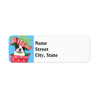 Happy Howlidays Boston Terrier Return Address Label