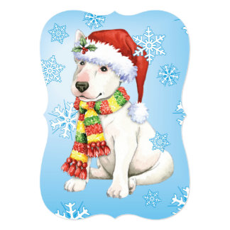 Happy Howlidays Bull Terrier Card