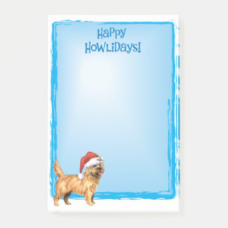Happy Howlidays Cairn Terrier Post-it Notes
