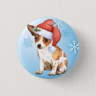 Happy Howlidays Chihuahua 3 Cm Round Badge