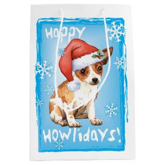Happy Howlidays Chihuahua Medium Gift Bag