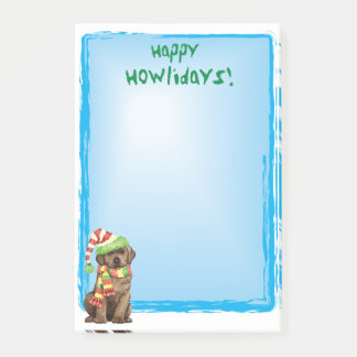 Happy Howlidays Chocolate Lab Post-it Notes