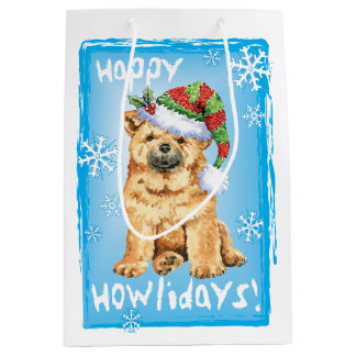 Happy Howlidays Chow Chow Medium Gift Bag