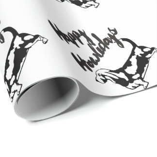 Happy Howlidays Christmas Basset Hound Dog Paper