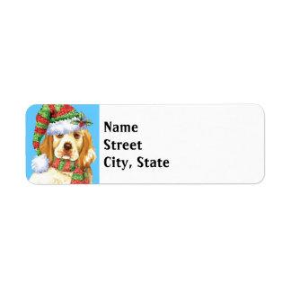 Happy Howlidays Clumber Spaniel Return Address Label