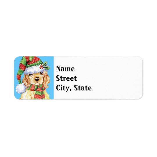 Happy Howlidays Cocker Spaniel Return Address Label