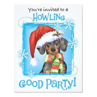 Happy Howlidays Dachshund 11 Cm X 14 Cm Invitation Card
