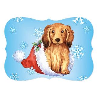 Happy Howlidays Dachshund 13 Cm X 18 Cm Invitation Card