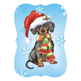 Happy Howlidays Dachshund Card