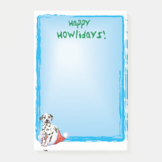 Happy Howlidays Dalmatian Post-it Notes