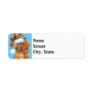 Happy Howlidays Dogue Return Address Label