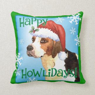 Happy Howlidays English Foxhound Cushion
