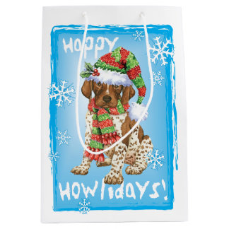 Happy Howlidays GSP Medium Gift Bag