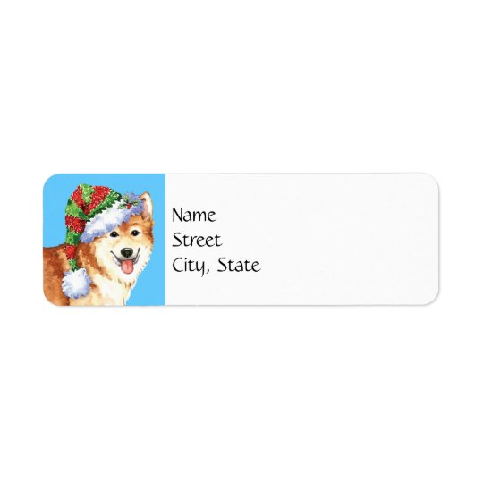 Happy Howlidays Icelandic Sheepdog Return Address Label