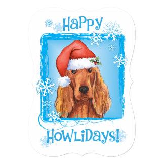 Happy Howlidays Irish Setter 13 Cm X 18 Cm Invitation Card