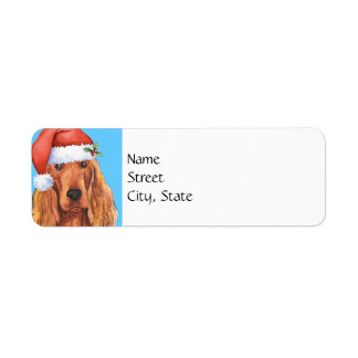 Happy Howlidays Irish Setter Return Address Label