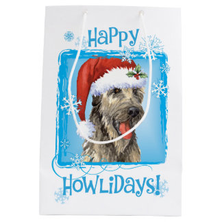 Happy Howlidays Irish Wolfhound Medium Gift Bag