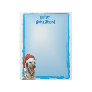 Happy Howlidays Irish Wolfhound Notepad