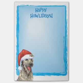 Happy Howlidays Irish Wolfhound Post-it® Notes