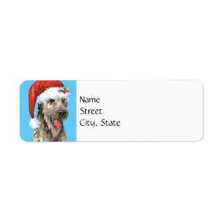 Happy Howlidays Irish Wolfhound Return Address Label