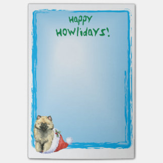 Happy Howlidays Keeshond Post-it Notes