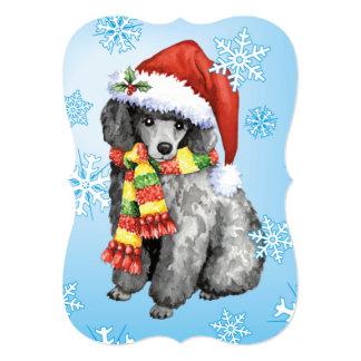Happy Howlidays Miniature Poodle Card