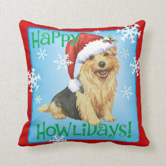 Happy Howlidays Norfolk Terrier Cushion