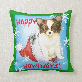 Happy Howlidays Papillon Cushion