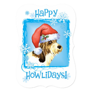 """Happy Howlidays PBGV 5"""" X 7"""" Invitation Card"""