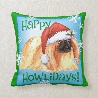Happy Howlidays Pekingese Cushion