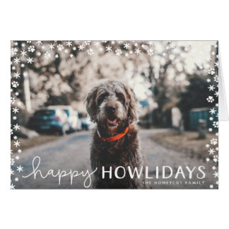 Happy Howlidays Pet Lover Holiday Greeting Card