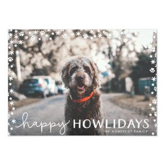 Happy Howlidays Pet Lover Holiday Photo Card 13 Cm X 18 Cm Invitation Card
