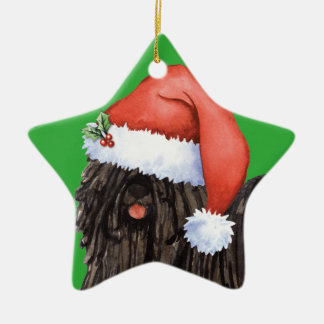 Happy Howlidays Puli Ceramic Ornament