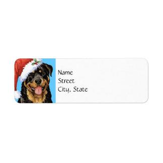 Happy Howlidays Rottweiler Return Address Label